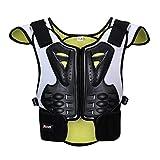 Chaquetas de moto para motocicleta de alta canción, sin mangas, chaleco protector de espalda para motocross, chaqueta de engranajes de protección para el pecho (tamaño: S)