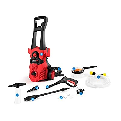 SJSF Y 1400W Electric Pressure Washer 105Bar 6L/Min High Pressure Washer Portable Car Washer with Quick-Connect Hose Bike Motorcycle Cleaner Machine Watering Flowers by SJSF Y