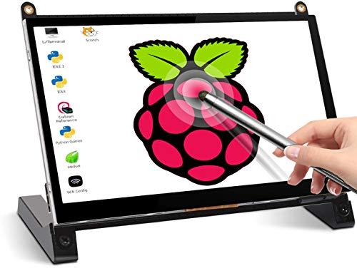 Touchscreen Monitor, EVICIV 7 Inch Portable USB Monitor Raspberry Pi Touch Screen IPS Display Computer Monitor 1024X600 16:9 Game Monitor for Pi 4/3 /2/ Zero/B Raspbian Ubuntu Xbox /PS4 Mac