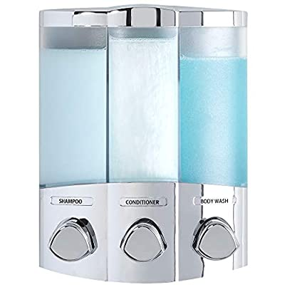 Better Living Products 76344-1 Euro Series TRIO 3-Chamber Soap and Dispenser, Chrome from Better Living