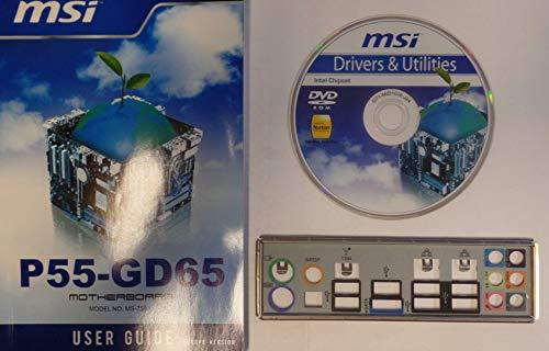 MSI P55-GD65 MS-7583 Ver.1.0 Handbuch - Blende - Treiber CD