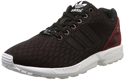 adidas Originals ZX Flux B35317, Damen Low-Top Sneaker, Schwarz (Core Black/Core Black/Tomato F15-ST), EU 36 2/3