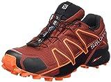 Salomon Homme Chaussures de Trail Running, SPEEDCROSS 4 GTX, Couleur: Marron (Madder Brown/Black/Red Orange), Pointure: UE 44 2/3