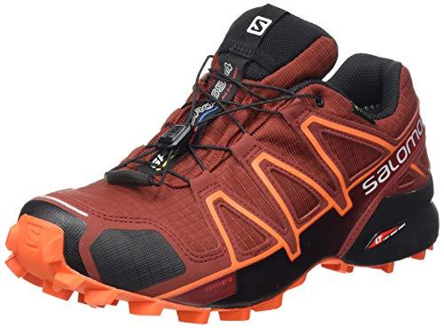 Salomon Herren Trail Running Schuhe, SPEEDCROSS 4 GTX, Farbe: Braun (Madder Brown/Black/Red Orange), Größe: EU 44