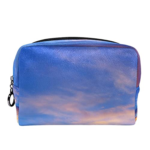 Sunrise Sky Fondo (L xW xH)18,5 x 7,5 x 13 cm Estuche cosmético cosmético bolsa de belleza bolsa de cosméticos para mujer bolsa de cosméticos bolsa de viaje organizador de accesorios