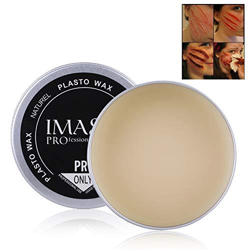 Fausse cire de cire, 5 types d'Halloween mascarade professionnel spécial effets de saignement de la cicatrice, couverture de réparation cicatrice de sourcils crème de cire de maquillage cosmétique(#2)