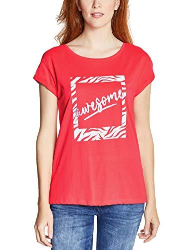 Street One 313815 Camiseta, Multicolor (Bright Coral 31889), 36 (Talla del Fabricante: 34) para Mujer