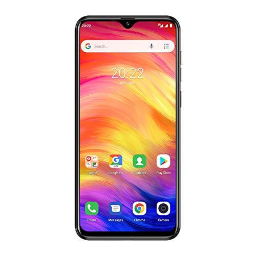 "Cellulari Offerte, Ulefone Note 7 Cellulari Economici 2019, Tre Telecamere Posteriori 8M/2M/2M, 3500mAh, Android 8.1 4-core 1GB+16GB, 64GB Memoria Estendibile, Dual Sim, 6.1"", Face Unlock/GPS- Nero"