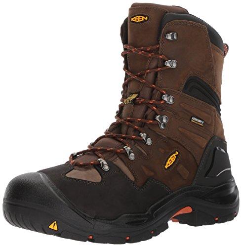 """KEEN Utility Men's Coburg 8"""" Steel Toe Waterproof Work Shoe, Cascade Brown/Brindle, 11.5"""