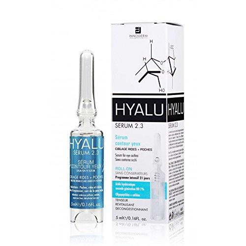 Hyalu Serum 2.3 – Gel Contour des Yeux – Cible les Rides et les Cernes – 5ml - Riche en Acide Hyaluronique en Caféine et Oligopeptides – Pour un Regard Redessiné et Allégé – Made in France