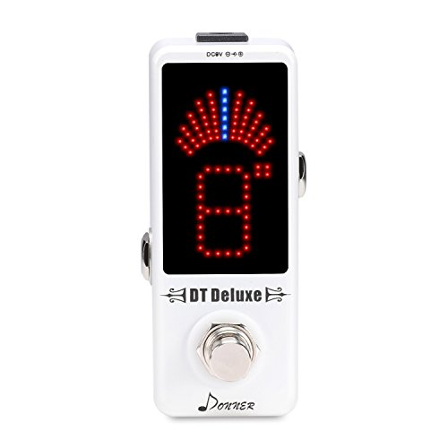 Donner DT Deluxe Guitar Tuner Pedal ±1 Cent True Bypass