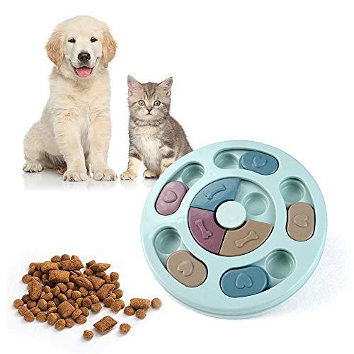 MEISHANG Verlangsamen Sie das Essen Hundespielzeug,IQ-Puzzle-Schüssel,Anti-Rutsch-Puzzle-Spielzeug für Hunde,Hund Puzzle Feeder Spielzeug,Hundepuzzle Spielzeug