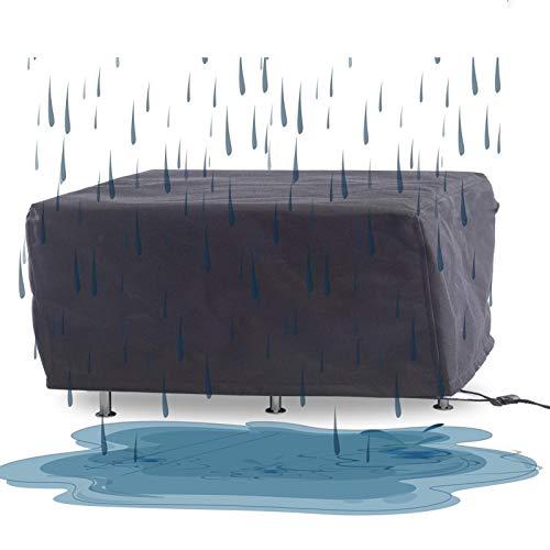 YJFENG Funda Protectora Muebles Jardín, Al Aire Libre Jardín Cubierta De Muebles, Alta Capacidad Cubierta De Mesa Y Silla Impermeable A Prueba De Polvo Portátil para Sofá BBQ Dedicado