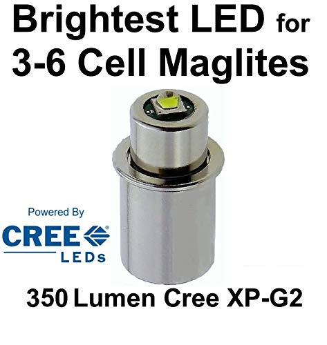 Maglite Cree LED Conversion Upgrade Improved 350 Lumen Bulb, 3D, 4D to 6D or C Cell Torches, UpLED