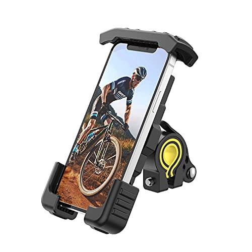 Stouchi Soporte Movil Bicicleta,Universal para Moto/Motocicleta - Ajustable Rotación 360° para Phone 12Mini,12 Pro MAX,11 Pro,6S,Samsung Galaxy S20,Huawei,Todos los Dispositivos 4.7-6.8