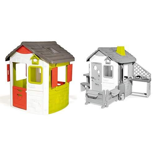 Smoby Casette Casetta Neo Jura Lodge 2 Anni 7600810500 & Casette Modulo Camino 2 Anni 7600810903