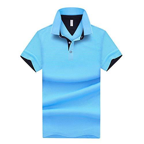 Herren Kurzarm Polos Shirts- Sommer Schnelltrocknend Casual Sweatshirt Leinen Polohemd T Shirt- Vatertagsgeschenk D-2XL