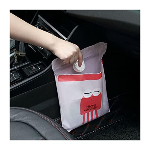 NYDG Bolsa de basura biodegradable, fácil de pegar, 15 unidades, autoadhesiva, bolsa de basura con bonito patrón para coche, oficina, suministros para el hogar