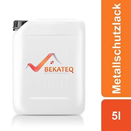 BEKATEQ BE-900 Metallschutzlack, 5l Braun, Rostschutzfarbe für Tore, Metallzaun, Container Korrosionsschutz, Buntlack, Metallfarbe