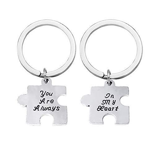 Familienkalender Puzzelteile Puzzel  You Are allways in My Heart Schlüsselanhänger Schlüsselring für Paare / Geliebte im Set Puzzle | Glück | Geschenk | Jahrestag | Hochzeit | Liebe