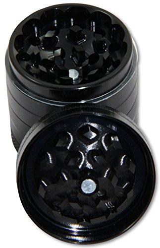 HighSupply Premium Grinder für Kräuter, Gewürze, Tee, Kaffee, Ø 63 mm, 4-teilig