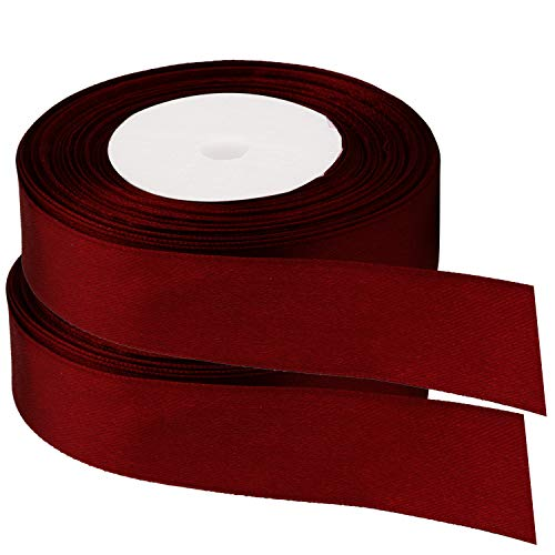 Ruban satin 25 m/ètres x 6 mm Bordeaux