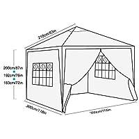 3x3m Pop Up Garden Canopy Waterproof Gazebo Camping Tent Shelter Outdoors (3x3M, Blue) 3