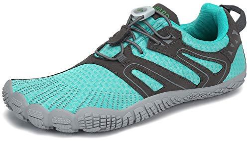 Barefoot Zapatillas Mujer Minimalistas Zapatillas Trekking Respirables Zapatos Five Fingers Calzado Minimalista Azul 38 EU
