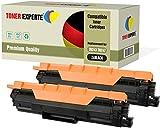 Pack de 2 TONER EXPERTE® Compatibles TN-243BK TN-247BK Negro Cartuchos de Tóner Láser para Brother DCP-L3510CDW L3550CDW HL-L3210CW L3230CDW L3270CDW MFC-L3710CW L3730CDN L3750CDW L3770CDW