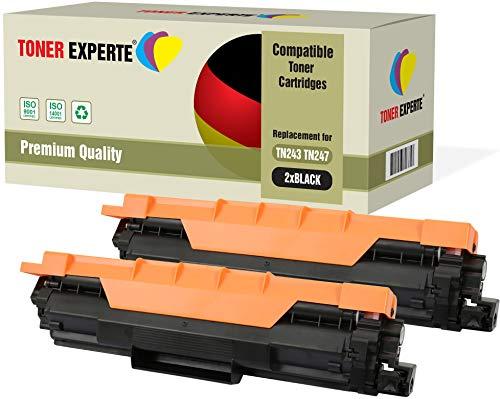 Kit 2 TONER EXPERTE® TN-243BK TN-247BK Nero Toner compatibili per Brother DCP-L3510CDW L3550CDW HL-L3210CW L3230CDW L3270CDW MFC-L3710CW L3730CDN L3750CDW L3770CDW