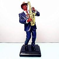 彫刻サックス像有名な音楽サックスフィギュア樹脂工芸品オフィスショーウィンドウホテルリビングルーム装飾ギフト