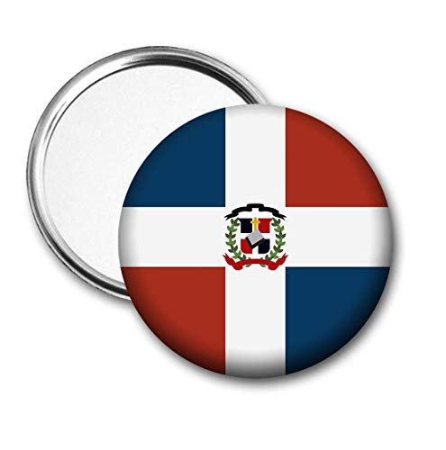Dominicaanse Republiek Vlag Pocket Spiegel voor Handtas - Handtas - Cadeau - Verjaardag - Kerstmis - Stocking Filler - Secret Santa