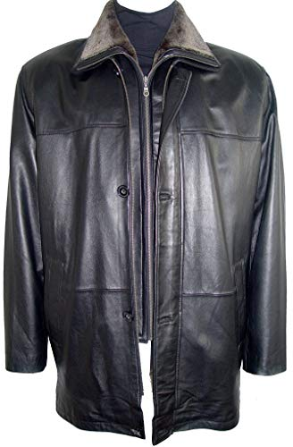 Paccilo 2001 Big Man Leather Jacket Business Clothing Coat Tall Black