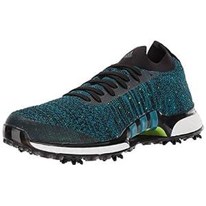 adidas Men's TOUR360 XT Primeknit Golf Shoe, core Black/Active Teal/Solar Slime, 9.5 Medium US