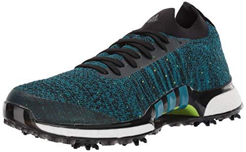 adidas Men's TOUR360 XT Primeknit Golf Shoe, core Black/Active Teal/Solar Slime, 7 Medium US