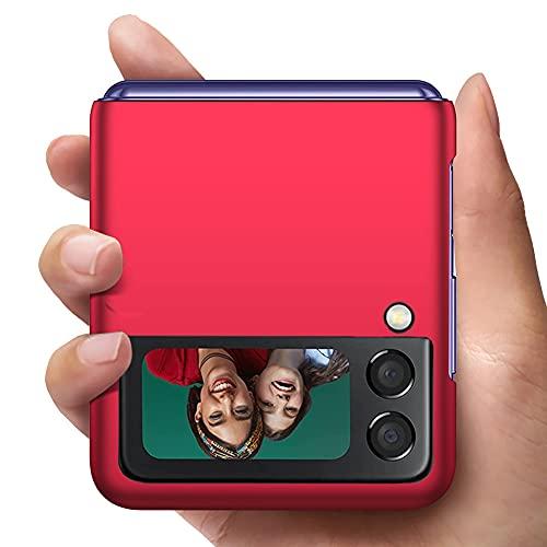 YIIWAY Kompatibel mit Samsung Galaxy Z Flip 3 5G Hülle, Rot Sehr Dünn Hülle Handyhülle Harte Schutzhülle Hülle Kompatibel mit Samsung Galaxy Z Flip3 5G YW42398