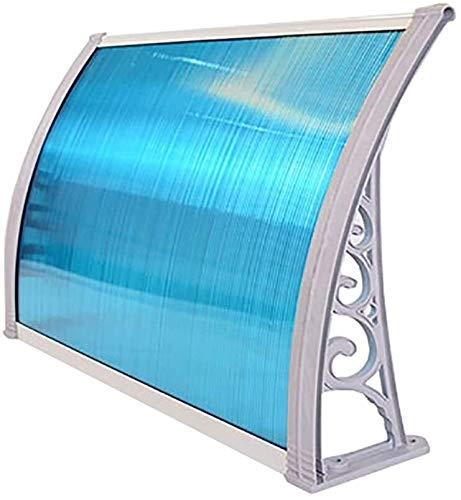 Regendicht deurmarkies Luifels Deur Luifel Luifel, Door Luifel Luifel, deurmarkies Dakterras Aluminium PC Polycarbonaat zonnescherm (Size : 60×100cm)
