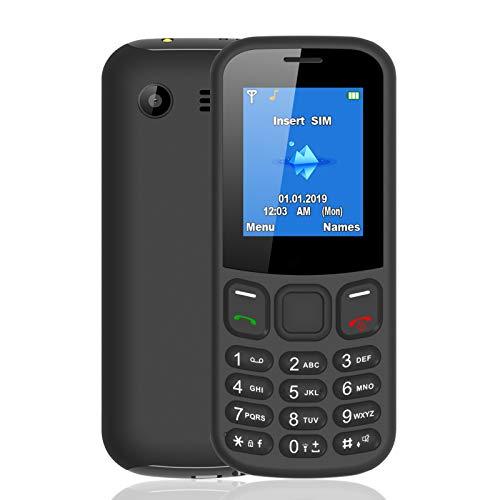 WEUN Tastenhandy Ohne Vertrag, 1,8 Zoll Senioren Handy, mit Taschenlampe Mobiltelefon, Schwarz