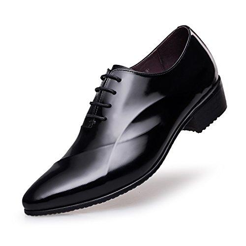 ZRO Men's Lace Up Formal Modern Oxford Dress Shoes BLACK US 10.5