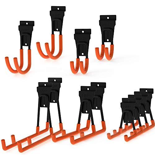 Intpro Slatwall Hooks Slatwall Accessories Utility Hooks Garage Storage Tool Organizer Large Heavy Duty Garage Panels Hooks for Ladders Bulk Items