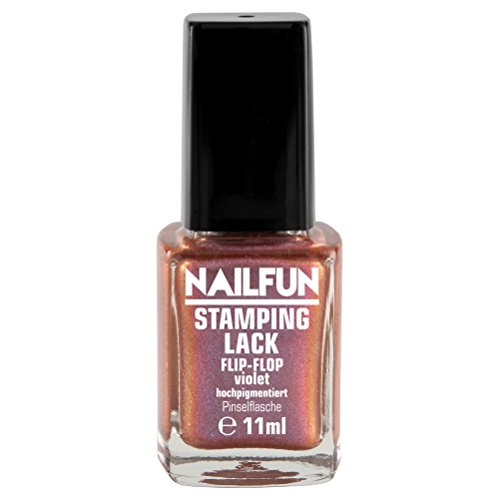 NAILFUN Stampinglack FLIP-FLOP VIOLET 11ml Pinselflasche - Stamping Nagellack - 1 x 11ml