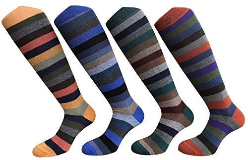 CriCri Socks Set 4 Paia Calze Calzini Lunghi Uomo in Caldo Cotone Alta Qualità Made in Italy - Taglia Unica (Combinazione 1)