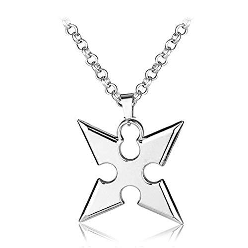 AdorabFruit Vorhanden Anhänger Cosplay Kingdom Hearts Legierung Halskette Cartoon Movie Anhänger Seil-Kette Schmuck for Männer Accessoires (Metal Color : Xl0061)