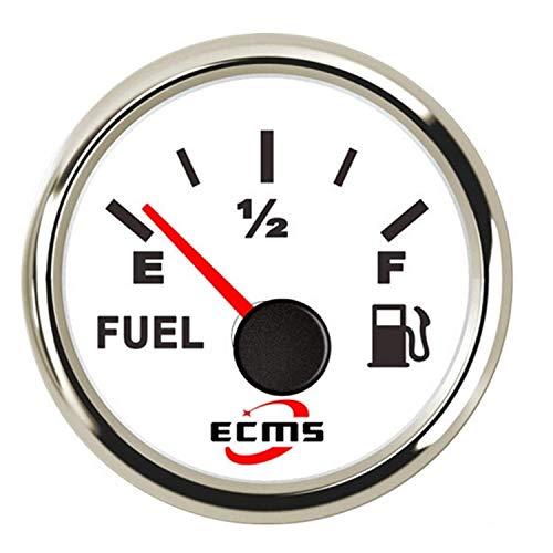 WEI-LUONG 2' Indicador de Nivel de Combustible del Coche del Metro del indicador 0-190 Ω con retroiluminación 12V / 24V for el Coche del Carro del Barco Coche