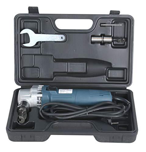 Arebos Blechnibbler 380W oder 625W | Blechknabber Nibbler Knabber Blechschere | inkl. Koffer | geeignet für Stahl, Edelstahl und Kunststoff (380 W)
