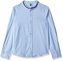 United Colors of Benetton Boys  Plain Regular Fit Shirt
