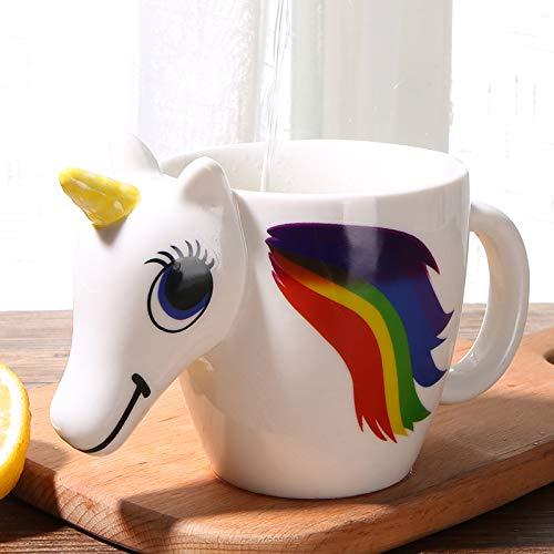 Creative cute cartoon animal mug 3D color changing cup ceramic milk coffee cup outdoor travel travel color changing cup 300ML