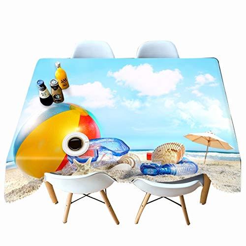 XXDD Mantel Estampado Moderno de Dibujos Animados de piña patrón de Playa Mantel de Restaurante Impermeable Rectangular Cubierta de Mesa variación A1
