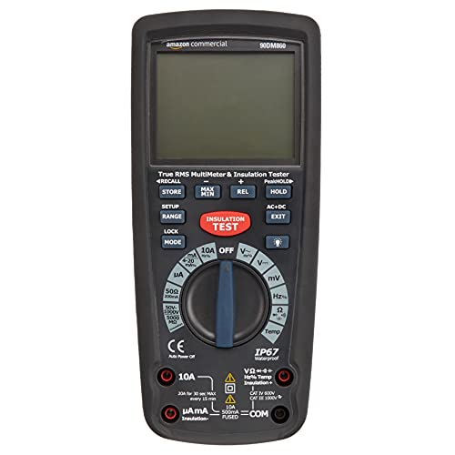 AmazonCommercial Insulation Tester with Multimeter Function, True RMS, CATIV 600V