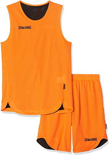 Spalding Teamsport Double Face, Conjunto Sport para Niños, Multicolor (orange/noir), 128 cm
